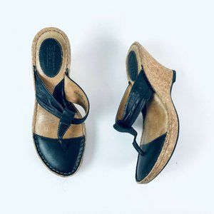 B.O.C. BORN Women's Size 7M Leather Heel Sandals